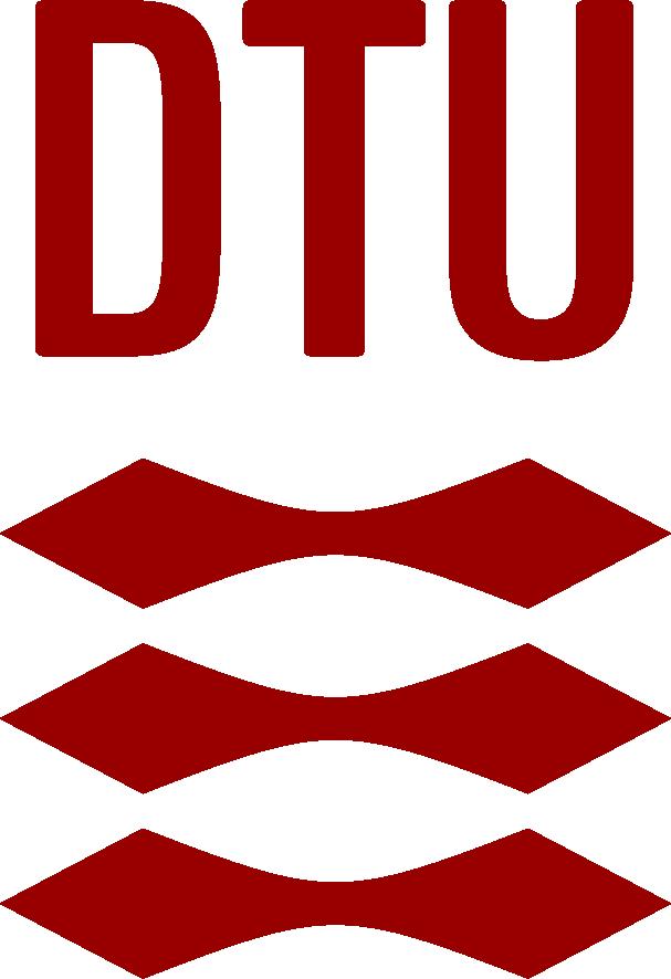 Logo of the Technical University of Denmark. DTU