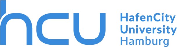 Logo of the HafenCity University in colour