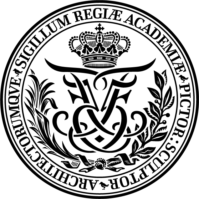 Emblem of the The Royal Danish Academy of Fine Arts Schools of Architecture, Design and Conservation. KADK